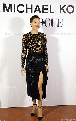 """November 13, 2017, Tokyo, Japan - American actress Kate Hudson poses for photo as she attends a charity dinner against hunger """"Michael Kors Watch Hunger Stop Charity Gala Dinner"""" in Tokyo on Monday, November 13, 2017.     (Photo by Yoshio Tsunoda/AFLO) LWX -ytd-"""