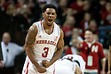 February 23, 2014: Benny Parker (3) of the Nebraska Cornhuskers yells after a big play against the Purdue Boilermakers during the second half at the Pinnacle Bank Arena, Lincoln, NE. Nebraska 76 Purdue 57.