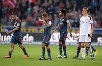 Fussball  1. Bundesliga  Saison 2013/2014  4. Spieltag SC Freiburg - FC Bayern Muenchen        27.08.2013 Enttaeuschung FC Bayern Muenchen; Diego Contento, Philipp Lahm, Dante und Torwart Manuel Neuer (v.li.)