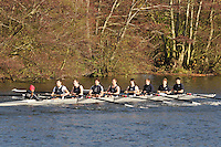 061 .QCO-Smith .NOV.8+ .Queens Coll (O). Wallingford Head of the River. Sunday 27 November 2011. 4250 metres upstream on the Thames from Moulsford railway bridge to Oxford Universitiy's Fleming Boathouse in Wallingford. Event run by Wallingford Rowing Club..