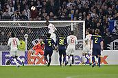 2nd November 2017, Nice, France; EUFA Europa League, Olympique Lyonnais versus Everton;  Mouctar Diakhaby (lyon) with a clearing header