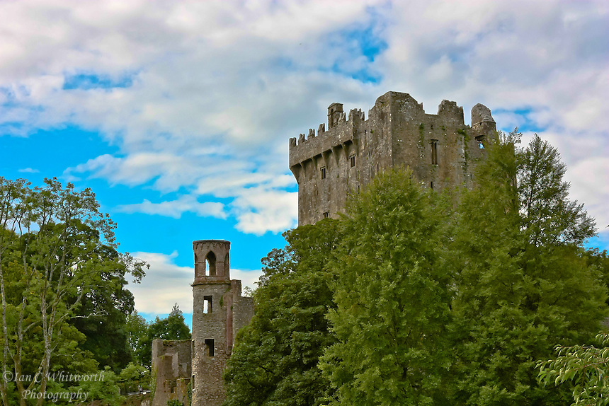 A view of Blarney Castle in Ireland