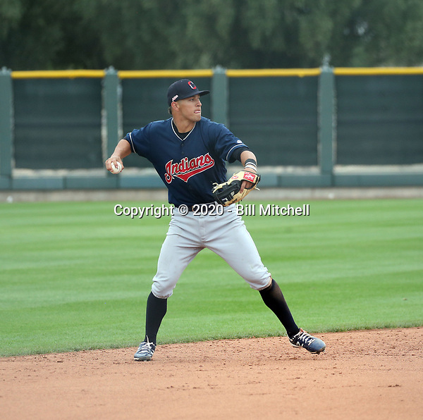 Tyler Freeman - Cleveland Indians 2020 spring training (Bill Mitchell)