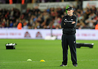 Ospreys' Head Coach Steve Tandy during the pre match warm up<br /> <br /> Photographer Ashley Crowden/CameraSport<br /> <br /> Guinness Pro14 Round 6 - Ospreys v Scarlets - Saturday 7th October 2017 - Liberty Stadium - Swansea<br /> <br /> World Copyright &copy; 2017 CameraSport. All rights reserved. 43 Linden Ave. Countesthorpe. Leicester. England. LE8 5PG - Tel: +44 (0) 116 277 4147 - admin@camerasport.com - www.camerasport.com
