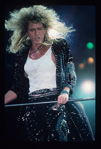 Whitesnake performs at the Peoria Civic Center in Peoria , Illinois.<br /> November 8, 1987<br /> &copy; Gene Ambo / MediaPunch **NO UK or Japan***