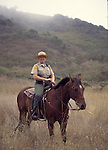 California State Park ranger on horse at Burleigh Murray Ranch State Park