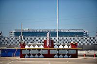 12-13 February, 2016, Daytona Beach, Florida, USA<br /> Abandoned ticket booth<br /> ©2016, F. Peirce Williams