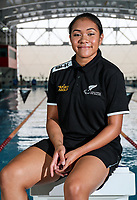 Tupou Neiufi. Swimming New Zealand Gold Coast Commonweath Games Team Announcement, Owen G Glenn National Aquatic Centre, Auckland, New Zealand,Friday 22 December 2017. Photo: Simon Watts/www.bwmedia.co.nz