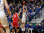 BROOKINGS, SD - FEBRUARY 23: Noah Freidel #11 of the South Dakota State Jackrabbits shoots a jumper against the South Dakota Coyotes Sunday at Frost Arena in Brookings, SD. (Photo by Dave Eggen/Inertia)