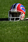 21 October 2007: A Buffalo Bills Helmet lies on the turf prior to a game against the Baltimore Ravens at Ralph Wilson Stadium in Orchard Park, NY. The Bills defeated the Ravens 19-14 in front of 70,727 fans marking their second win of the 2007 season...Mandatory Photo Credit: Ed Wolfstein Photo