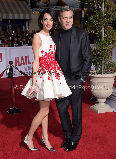 Amal Clooney, George Clooney<br />  attends The Universal Pictures Hail,Caesar! World Premiere held at The Regency Village Theatre in Westwood, California on February 01,2016                                                                               © 2016 Hollywood Press Agency