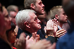 © Joel Goodman - 07973 332324 . 28/09/2016 . Liverpool , UK . JOHN MCDONNELL applauds during Jeremy Corbyn delivering the Leader's Speech at the close of the final day of the Labour Party Conference at the ACC in Liverpool . Photo credit : Joel Goodman