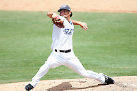 July 12, 2009:  Pitcher Tim Collins of the Dunedin Blue Jays delivers a pitch during a game at Dunedin Stadium in Dunedin, FL.  Dunedin is the Florida State League High-A affiliate of the Toronto Blue Jays.  Photo By Mike Janes/Four Seam Images