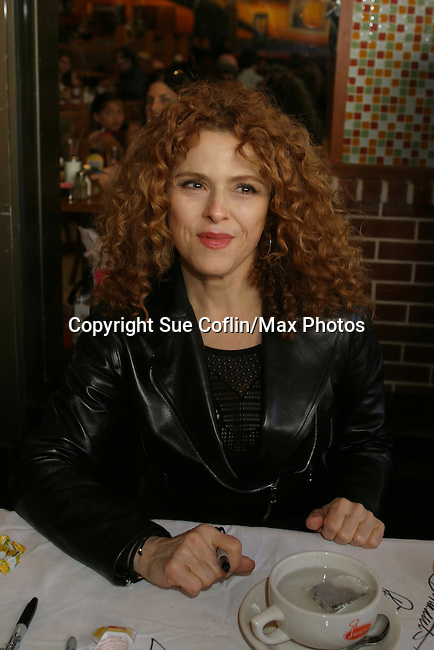 Bernadette Peters at The 26th Annual Broadway Flea Market and Grand Auction to benefit Broadway Cares/Equity Fights Aids on September 23, 2012 in Shubert Alley and Times Square, New York City, New York.  (Photo by Sue Coflin/Max Photos)