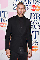 Calvin Harris arrives for the BRIT Awards 2015 at the O2 Arena, London. 25/02/2015 Picture by: Steve Vas / Featureflash