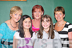 Going to live forever: At FAME the Musical in the INEC Killarney last Tuesday night.were, l-r: Kathleen OSullivan, Mary OSullivan, Kathy Brosnan, Prema Bhuiyan and.Mairead Breen (all Killarney).