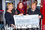 Pictured on Friday morning last at a cheque presentation to the MS Tralee / West Kerry Branch, where €1,705, was raised from the Ladies Lunch and Fashion Afternoon held in Ballyroe Heights Hotel, November last, l-r: Audrey Moran (PRO MS Tralee West Kerry Branch) Mags Brick (Connect) Anne Burrows (Assistant Secretary MS Tralee West Kerry Branch)
