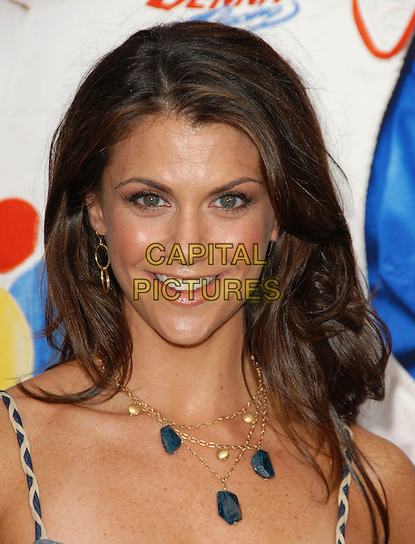 "SAMANTHA HARRIS.World Premiere of ""Talladega Nights:The Ballad of Ricky Bobby"" held at The Grauman's Chinese Theatre in Hollywood, California, USA..July 26th, 2006.Ref: DVS.headshot portrait blue stone gold necklace.www.capitalpictures.com.sales@capitalpictures.com.©Debbie VanStory/Capital Pictures"