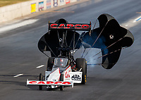 Jul 22, 2017; Morrison, CO, USA; NHRA top fuel driver Steve Torrence during qualifying for the Mile High Nationals at Bandimere Speedway. Mandatory Credit: Mark J. Rebilas-USA TODAY Sports