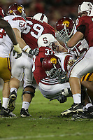 4 November 2006: Jason Evans during Stanford's 42-0 loss to USC at Stanford Stadium in Stanford, CA.