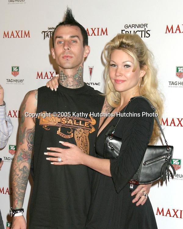 Travis Barker.Shanna Moakler.Maxim Hot 100 Party.Hollywood,  CA.May 12, 2005.©2005 Kathy Hutchins / Hutchins Photo