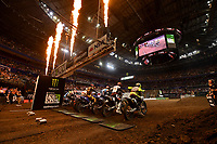 SX2 start action<br /> Monster Energy Aus-XOpen<br /> Supercross &amp; FMX International<br /> Qudos Bank Arena, Olympic Park NSW<br /> Sydney AUS Saturday 11  November 2017. <br /> &copy; Sport the library / Jeff Crow