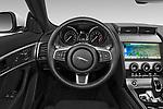 Car pictures of steering wheel view of a 2019 Jaguar F-Type - 2 Door Convertible Steering Wheel