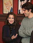 Winona Ryder and friend attend the unveiling of the Kenneth Lonergan caricature at Sardi's on February 17, 2017 in New York City.