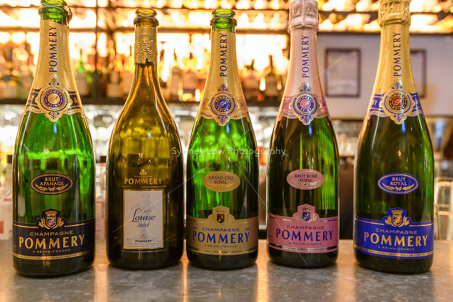 Melbourne, July 13, 2018 - Pommery Champagne Dinner at Philippe Restaurant in Melbourne, Australia. Photo Sydney Low