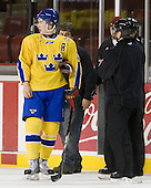 Johan Sundström (Sweden - 13) - Sweden's Under-20 team played its last game on this Massachusetts tour versus the University of Massachusetts-Amherst Minutemen losing 5-1 on Saturday, November 6, 2010, at the Mullins Center in Amherst, Massachusetts.