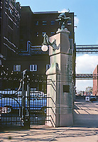 St. Louis: Anheuser-Busch Brewery, entrance. Photo '78.