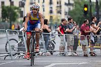 Luis Miguel Velasquez of Venezuela during the 2017 Madrid ITU Triathlon World Cup in Madrid, May 28, 2017. Spain.. (ALTERPHOTOS/Rodrigo Jimenez) /NortePhoto.com