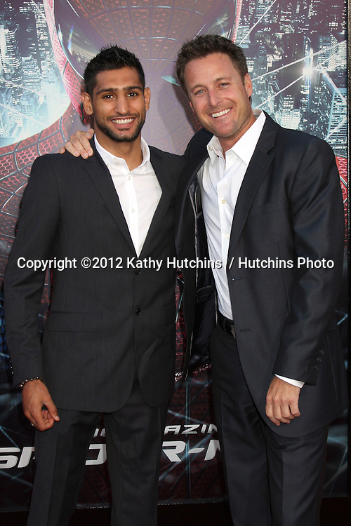 "LOS ANGELES - JUN 28:  Amir Khan, Chris Harrison arrives at the ""The Amazing Spider-Man"" Premiere at Village Theater on June 28, 2012 in Westwood, CA"