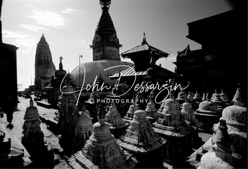 Swayambhunah Stupa or Monkey Temple 15th Century AD. Kathmandu Nepal