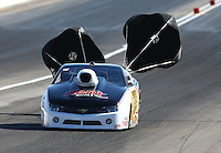 Mar 30, 2014; Las Vegas, NV, USA; NHRA pro stock driver Rodger Brogdon during the Summitracing.com Nationals at The Strip at Las Vegas Motor Speedway. Mandatory Credit: Mark J. Rebilas-