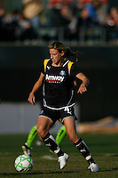 Aly Wagner (4) of the Los Angeles Sol. The Los Angeles Sol defeated Sky Blue FC 2-0 during a Women's Professional Soccer match at TD Bank Ballpark in Bridgewater, NJ, on April 5, 2009. Photo by Howard C. Smith/isiphotos.com