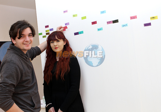 Dan Curran and Alannagh Brennan at the Official Launch of the Arts Festival in the Droichead Arts Centre...(Photo Jenny Matthews/www.golffile.ie)