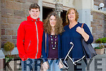 Hugh Stuart, Emma Stuart and Claire Stuart at the  Special Mass to mark Donal Walsh's 2nd anniversary at the Dominican Church on Tuesday