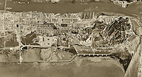 historical aerial photograph Mare Island Naval Ship Yard,Vallejo, California, 1948