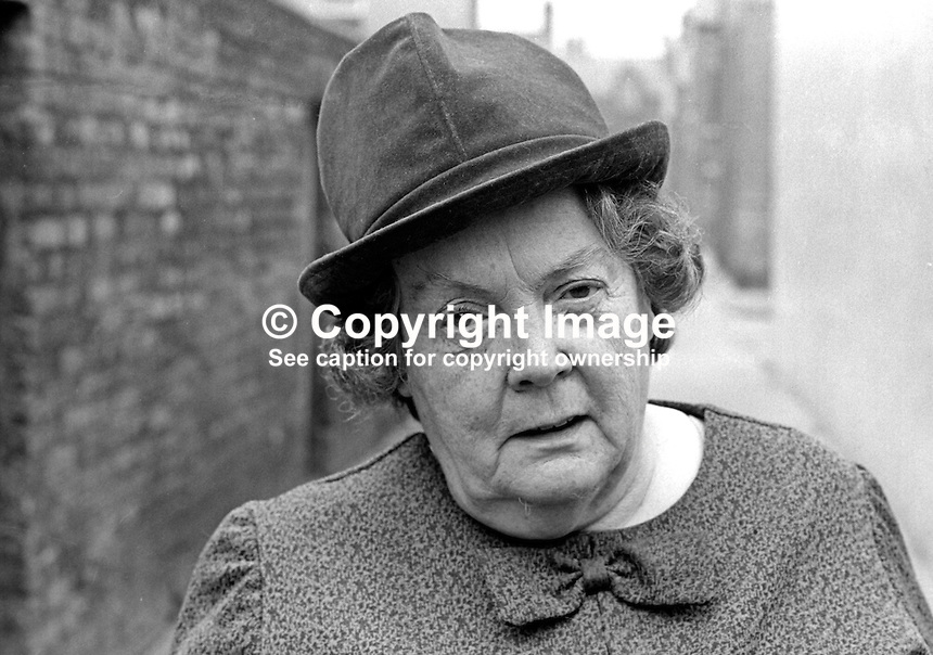 Maureen Smyth, candidate, West Belfast, Alliance Party of N Ireland, N Ireland Assembly Election, June 1973. 197306000315b<br />