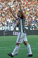 RIO DE JANEIRO, RJ, 26 DE FEVEREIRO 2012 - CAMPEONATO CARIOCA - FINAL - TACA GUANABARA - VASCO X FLUMINENSE - Fred, jogador do Fluminense, comemora o seu segundo gol, o terceiro do time, durante partida contra o Vasco, pela final da Taca Guanabara, no estadio Engenhao, na cidade do Rio de Janeiro, neste domingo, 26. FOTO: BRUNO TURANO – BRAZIL PHOTO PRESS, jogador do Vasco, durante partida contra o Fluminense, pela final da Taca Guanabara, no estadio Engenhao, na cidade do Rio de Janeiro, neste domingo, 26. FOTO: BRUNO TURANO – BRAZIL PHOTO PRESS