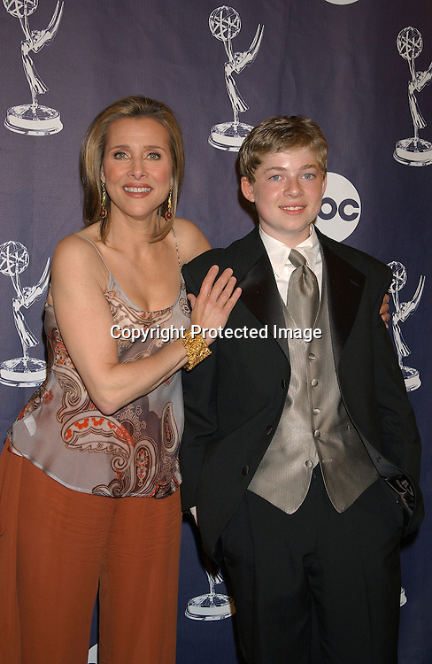 Meredith Vieira  & son Ben Cohen                               ..at the Daytime Emmy Awards on May 16,2003 at ..Radio City Music Hall ...Photo by Robin Platzer, Twin Images