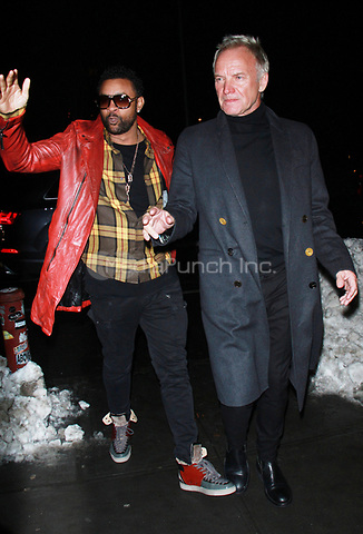 NEW YORK, NY - JANUARY 11: Shaggy and Sting arriving at the IFC Films premiere of Freak Show at the Landmark Sunshine Cinema in New York City on January 10, 2018. Credit: RW/MediaPunch