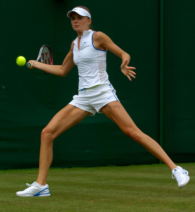 Photo: Richard Lane..Wimbledon Championships. 27/06/2006. .Solvakia's Daniela Hantuchova returns.