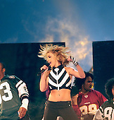 "Recording Artist Britney Spears performs on the National Mall during the Operation Tribute to Freedom, NFL and Pepsi sponsored ""NFL Kickoff Live 2003"" Concert on September 4, 2003. Organizers provided priority seating for military members and their families. Among the other performers were Aerosmith, Mary J. Blige, Aretha Franklin, and Good Charlotte. Operation Tribute to Freedom (OTF) was set up by the Department of Defense as a way for Americans to show their appreciation to our men and women in uniform. .Mandatory Credit: Seth Rossman / U.S. Navy via CNP."