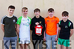 Jacks Team sponsored by O'Sullivan family playing in the Jack O'Sullivan 3rd annual Memorial five-a-side soccer tournament held in the Ballybunion Community Centre on Sunday last. l-r, Scott Godson, Liam Dowling, Peter O'Sullivan, Stephen O'Carroll and  Kieran O'Carroll.