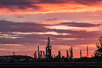 An oil refinery in Tulsa Oklahoma on Route 66.