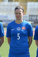 20180307 - LARNACA , CYPRUS :  Slovakian Alexandra Biroova  pictured during a women's soccer game between  Slovakia and the Czech Republic , on Wednesday 7 March 2018 at the GSZ Stadium in Larnaca , Cyprus . This is the final game in a decision for 9 th or 10 th place of the Cyprus Womens Cup , a prestigious women soccer tournament as a preparation on the World Cup 2019 qualification duels. PHOTO SPORTPIX.BE | DAVID CATRY