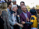 DEC 28: Mike Smith with Terry Finley at Santa Anita Park in Arcadia, California on December 28, 2019. Evers/Eclipse Sportswire/CSM