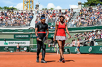Venus and Serena Williams of USA during Day 8 of the French Open 2018 on June 3, 2018 in Paris, France. (Photo by Baptiste Fernandez/Icon Sport)